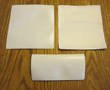 1 NEW WHITE VINYL CHECKBOOK COVER WITH DUPLICATE FLAP CHECK BOOK COVERS