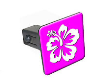 "Hibiscus Flower - 1 1/4 inch (1.25"") Trailer Hitch Cover Plug"