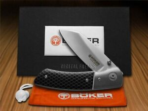 Boker Tree Brand Liner Lock Knife Model 10 Black Honeycomb CPM 154 111653