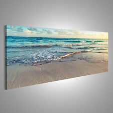 Strand Meer Sand Bild auf Leinwand AZH-Pano