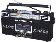 New Qfx 4 Band Am/Fm Stereo Radio Mp3 Cassette Player Recorder Usb/Sd 3-Band Eq