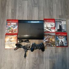 Sony PlayStation 3 SuperSlim Tested W/games,contr.,cords 12gb