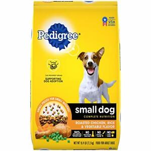 PEDIGREE Small Dog Adult Complete Nutrition Roasted Chicken Rice & Vegetable ...