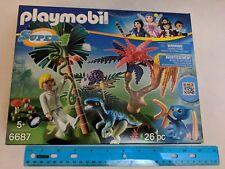 Playmobil Lost Island w/ Scientist, Alien, Dinosaur 6687 Super 4 Series MIB