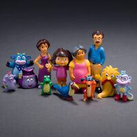 12PCS DORA THE EXPLORER ACTION FIGURES KID FIGURINES DOLL TOY CAKE TOPPER DECOR