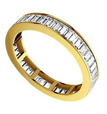 0.75CT Baguette Cut Diamonds Full Eternity Wedding Ring in 18K Yellow Gold