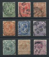Grande Bretagne N°139/47 Obl (FU) 1912/22 - George V (Filigrane E)
