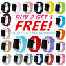 Silicone Strap Band for Apple Watch Series 1/2/3/4/5 iWatch Sports 38/40/42/44mm