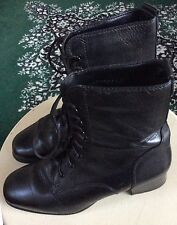 MUNRO BLONDO Canada Waterproof Paddock LACEUP ANKLE Boots BLACK LEATHER 6 B