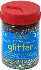 Multi-coloured Art and Craft Glitter - 100g Tub AP/097/GTM