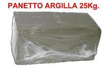 PANETTO DI ARGILLA DA 25 Kg. per Scultura, Tornio, ecc.. Lavori Creatività Creta
