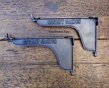 Pair Of  Industrial Style Covent Garden  Cast Iron Shelf Brackets 200mm Deep