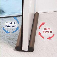 Twin Door Draft Dodger Guard Stopper For Doors Windows Protector Doorstop  NoBOX