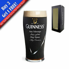 Personalised Engraved Pint Guinness Lager Beer Glass - Perfect Gift Present