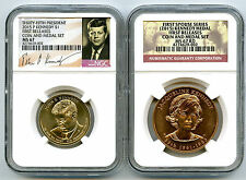 2015 KENNEDY FIRST SPOUSE DOLLAR COIN & MEDAL SET NGC MS67 RD FIRST RELEASES JP7