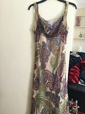 Paisley Print Dress, Size 16, From Linea