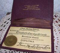 GRACE MARTIN'S SCHOOL PITTSBURGH PA 1946 DIPLOMA