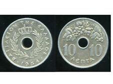 GRECE  10 lepta  1954