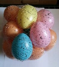 Eggs 2.5 inch Speckled Assorted 16 pieces Ornaments Home Decor E2