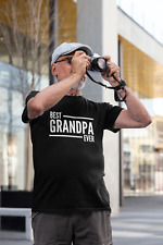 Best Grandpa Ever Mens Adult T-Shirt Family Christmas Awesome Gramps Grandad