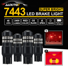 4X 7443 7440 Red LED Brake Tail Stop Lamp For Toyota Clevrolet 48 SMD Bulb Light