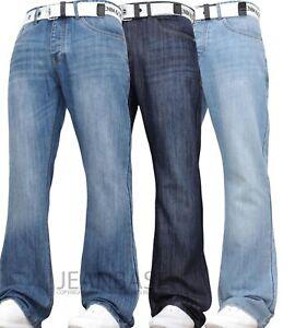 Denim & Dye Neue Herren Designer Bootcut Fit Denim Jeans Hose QUALITÄT DENIM