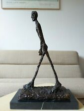 Bronze Sculpture Statue Walking Man after GIACOMETTI Signed Number Marble Base