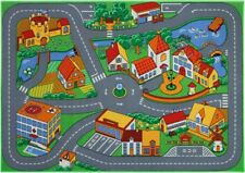 Street carpet Kids Quiet Town 95x133 colorful