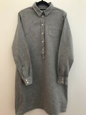 YMC Blue Cotton Shirt Dress Sz12