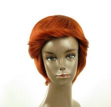 perruque afro femme 100% cheveux naturel courte cuivré intense ref LAET 04/130