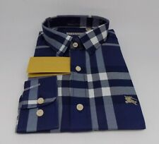 Brand New With Tags Men`s BURBERRY BRIT Long Sleeve Shirt Size L / LARGE BB-3