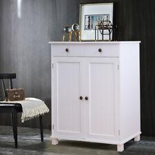 Vintage White Cabinet Cupboard Sideboard Living Room Hallway Kitchen Organiser