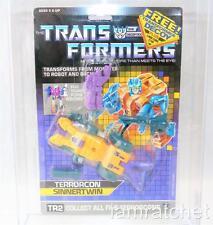 Transformers Original G1 AFA 80 Terrorcon Sinnertwin w/ Decoy MOSC 80/85/90