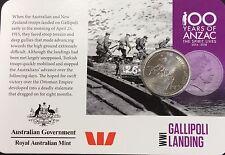 2015 Anzac centenary Gallipoli landing  20 cents UNC