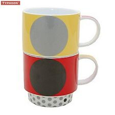 Typhoon Minerva Stacking Mug in Assorted Colours Tea Coffee Serving Kitchen New