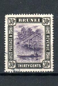 Brunei 1907-10 30c View on Brunei River FU CDS