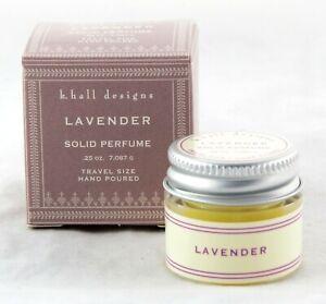 Lavender Solid Perfume K. Hall Design 0.25oz NEW mini travel natural calm relax