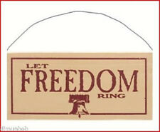 """""""Let Freedom Ring"""" Rustic Decorative Wood Sign Free Shipping"""