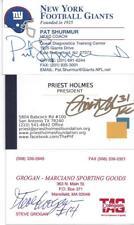 NEW ENGLAND PATRIOTS LEGEND STEVE GROGAN SIGNED BUSINESS CARD