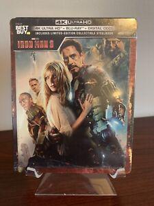 Iron Man 3 Steelbook (4K UHD/Blu-ray/Digital) Factory Sealed