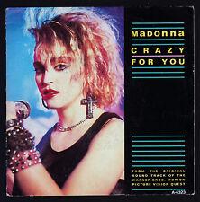 "MADONNA DISCO 45 GIRI 7"" OST CRAZY FOR YOU - HOL GEFFEN RECORDS A 6323"