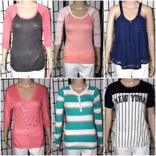 Lot of 6 Women's Shirts Tops (5) Rue 21 (1) Jolt All Xs Except One Small Size