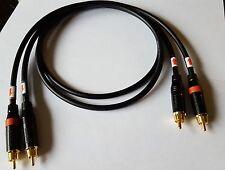 Canare L-4E6S Interconnect Cable Amphenol ACPR-BLK RCA Connectors Black 3 Ft