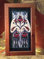Moorcroft Spirit Of Liberty Double Tile Framed Emma Bossons Mint