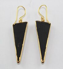 Fabulous Sale ! Designer Black spinel 24k Gold Plated Earring Jewelry Zj-103