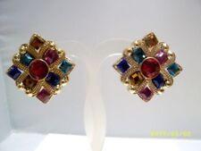 Plastic Earring Vintage Costume Jewellery (1980s)