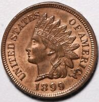1899 INDIAN HEAD CENT - BU MS UNC - With CARTWHEELING MINT LUSTER!