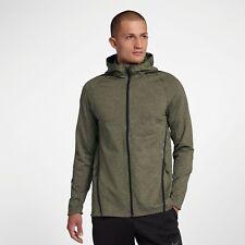 Nike Dri-FIT Long Sleeve Full-Zip Training Hoodie New Olive Green Men 928030-395