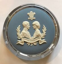 Wedgwood Glass Paperweight 1981 Prince Charles And Lady Diana Royal Wedding
