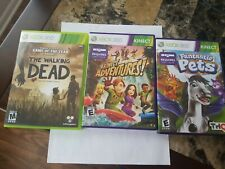 Kinect adventures and 2 other xbox 360 kinect games